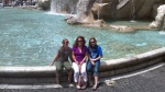 My Beauties At Trevi Fountain